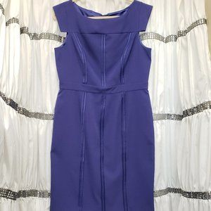 Vince Camuto Violet Purple Cap Sleeve Sheath Dress